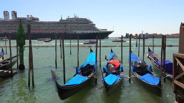 Thumbnail for Gondola Boats in Grand Canal Venice Italy