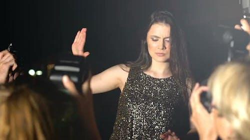 Annoyed Actress Refusing to Take Photo, Feeling Tired of Annoying Photographers