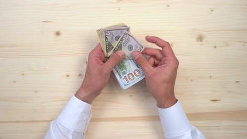 Hand greifen Dollar