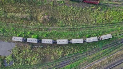 Railway Station for Cargo Aerial View