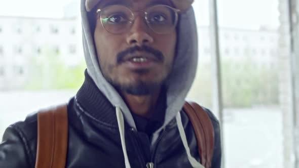 Thumbnail for Hostile Arab Man Pushing Camera Away
