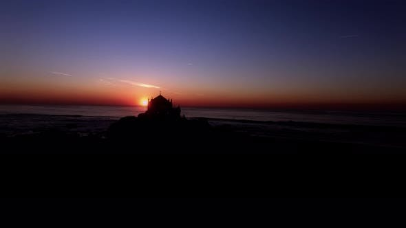 Thumbnail for Church Silhouette at Beautiful Sunset