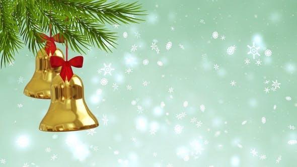Thumbnail for Golden Bells On Snowflake