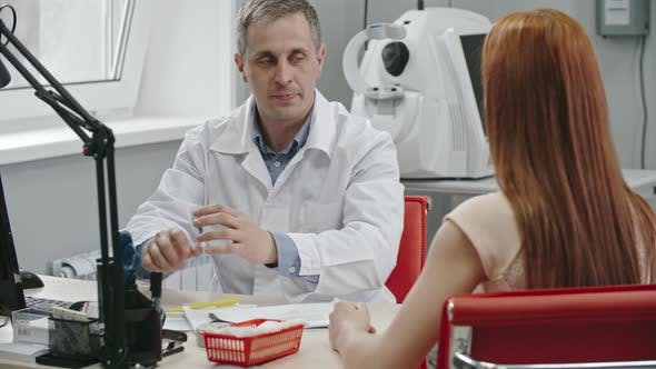 Thumbnail for Female Patient Visiting Optometrist