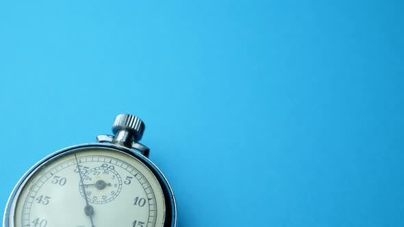 Thumbnail for Analogue Metal Stopwatch on the Blue Background