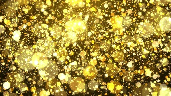 Thumbnail for Gold Particle Falling Background