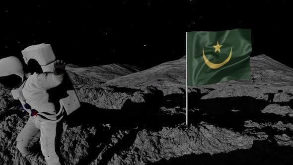 Thumbnail for Astronaut Planting Mauritania Flag on the Moon