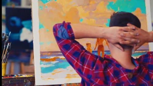 Painter at the Art Workshop