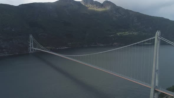 Thumbnail for Hardanger Bridge Across the Hardangerfjord in Norway in Summer Day. Fjord and Mountains