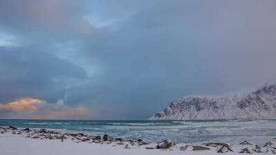Changing Weather in Winter Norway
