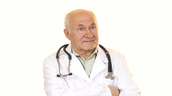 Thumbnail for Senior Male Doctor with a Stethoscope Smiling To the Camera