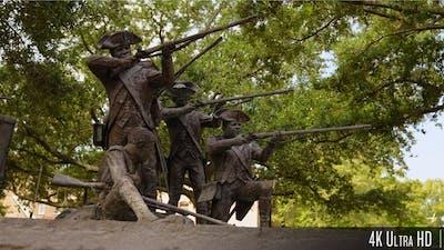 4K Monument in Franklin Square, Savannah, Georgia