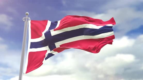 Thumbnail for Realistic Norway Flag Slow Motion Looped 4K