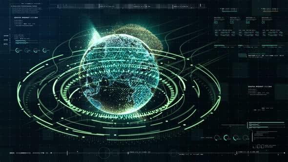 Thumbnail for Futuristic Holographic Earth HUD