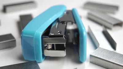 Office stapler with staples