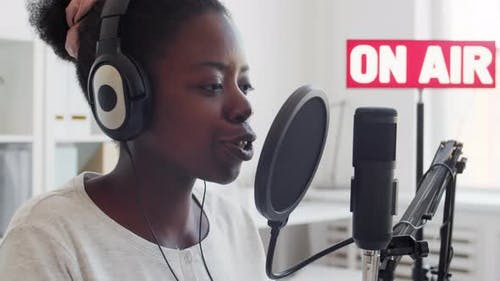 Female African Jockey Broadcasting