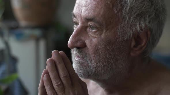 Thumbnail for Old Poor Man Praying at Home