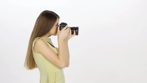 Thumbnail for Photomodel Makes Photo. White
