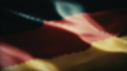 Handshake. German Flag Background.