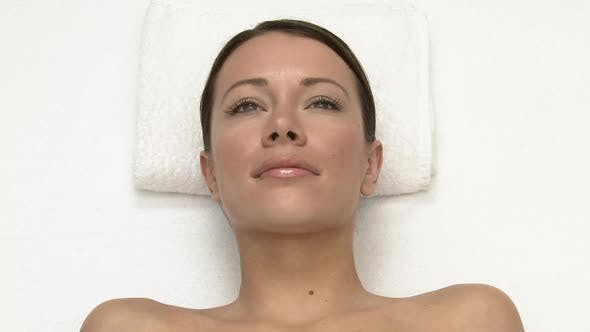 Thumbnail for Woman lying on massage table