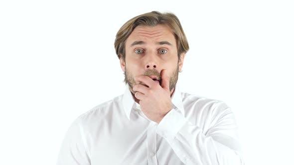 Shock, Upset Man, white Background