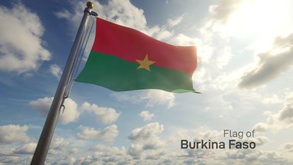 Thumbnail for Burkina Faso Flag on a Flagpole