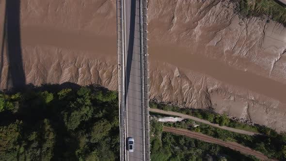 Thumbnail for Aerial Shot Flying Over A Bridge