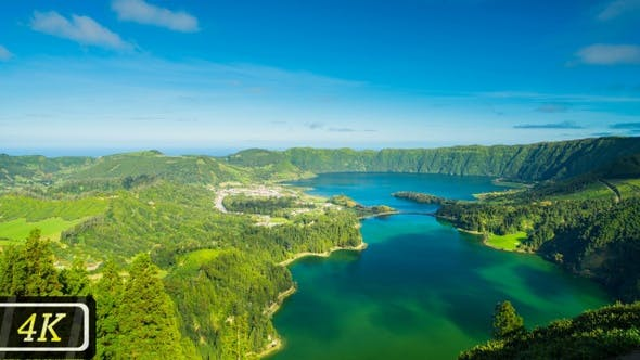 Thumbnail for Famous Sete Cidades Lakes from Azores Islands