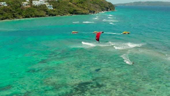 Thumbnail for Kitesurfers on Bulabog Beach, Boracay Island, Philippines