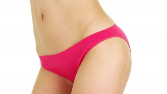 Thumbnail for Woman in hot pink underwear