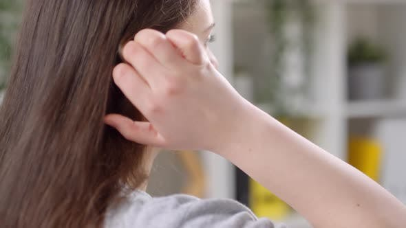 Girl With Eco-friendly Hearing Aid