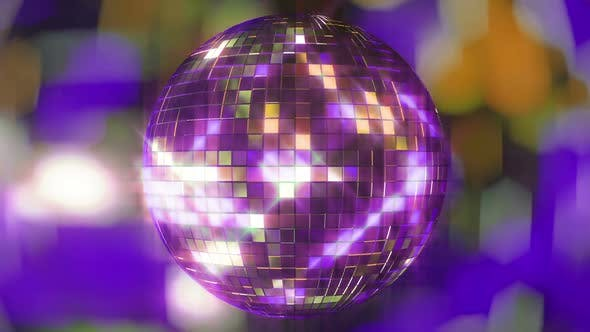 4k Bright Colored Disco Ball
