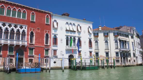 Thumbnail for Ancient Building With Italian and EU Flags in Venice, Sightseeing Boat Tour