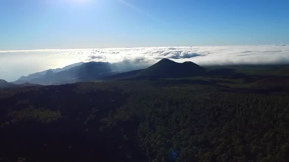 Breathtaking aerial drone clip over the clouds / 23 Full Hd