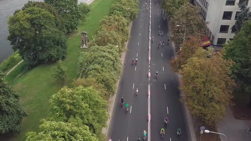 Amateur Cyclists Participating in Velomarathon
