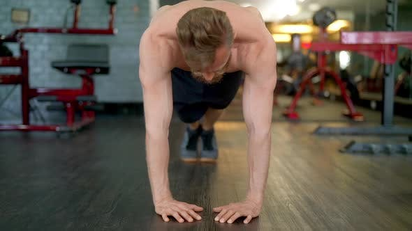 Thumbnail for Handsome Male Athlete Doing a Full Diamond Push Up