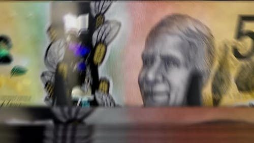 Money counting down machine with Australian Dollar