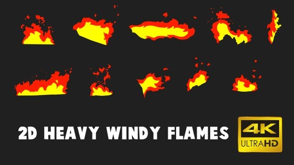 Thumbnail for 2D Heavy Windy Flames