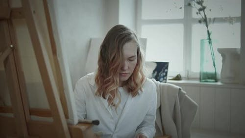 Portrait of female artist