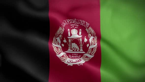 Afghanistan Flag Textured Waving Front Background HD