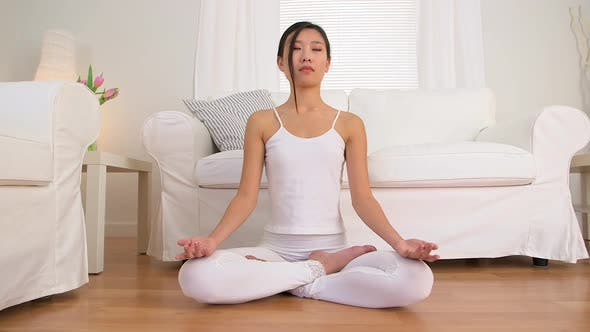 Thumbnail for Quiet Chinese woman meditating
