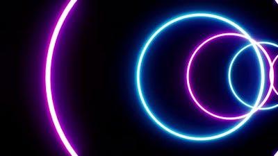 4K Neon Circle Tunnel Loop