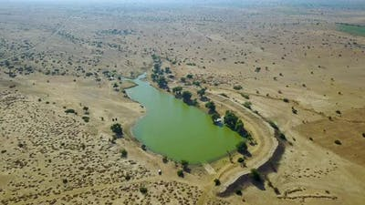Lake in the Middle of a Desert. India