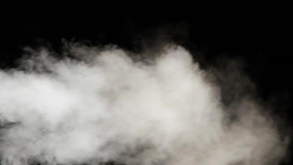 Thumbnail for Water Vapor, Slow Motion 240Fps, Jet of Steam Under Pressure on Black Background