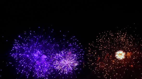 Thumbnail for Colorful Fireworks Exploding in the Night Sky