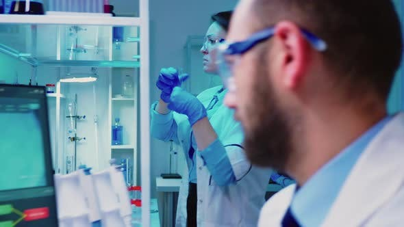 Thumbnail for Microbiologist Researchers Working Vaccine Development