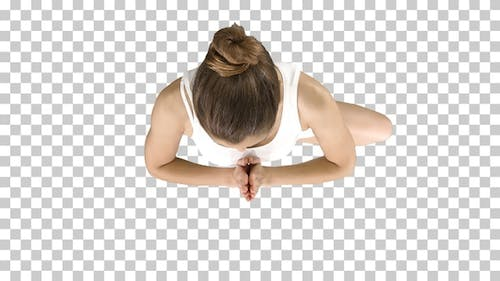 Tree Pose Standing on One Leg, Hands, Alpha Channel
