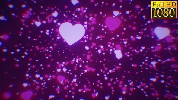 Hearts Bokeh Particles Background Vj Loops V1