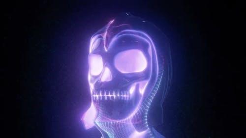Vj Human Skull In Helmet Hd