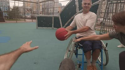 People with Disabilities Playing Basketball